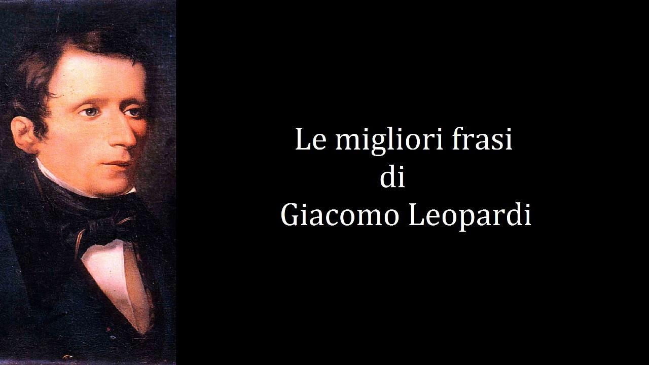 frasi celebri leopardi
