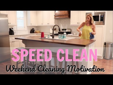 SPEED CLEAN WITH ME // CLEANING MUSIC // CLEANING MOTIVATION