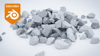 Blender Tutorial - How to Create a Pile of Rocks