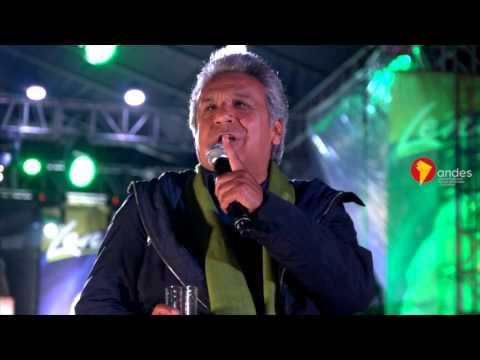 Multitudinaria cierre de campaña de Lenín Moreno en Quito