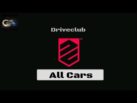 All Cars | Driveclub | PS4