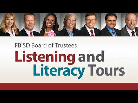 March 5, 2018 Fort Bend ISD School Board Literacy Tour Part 1