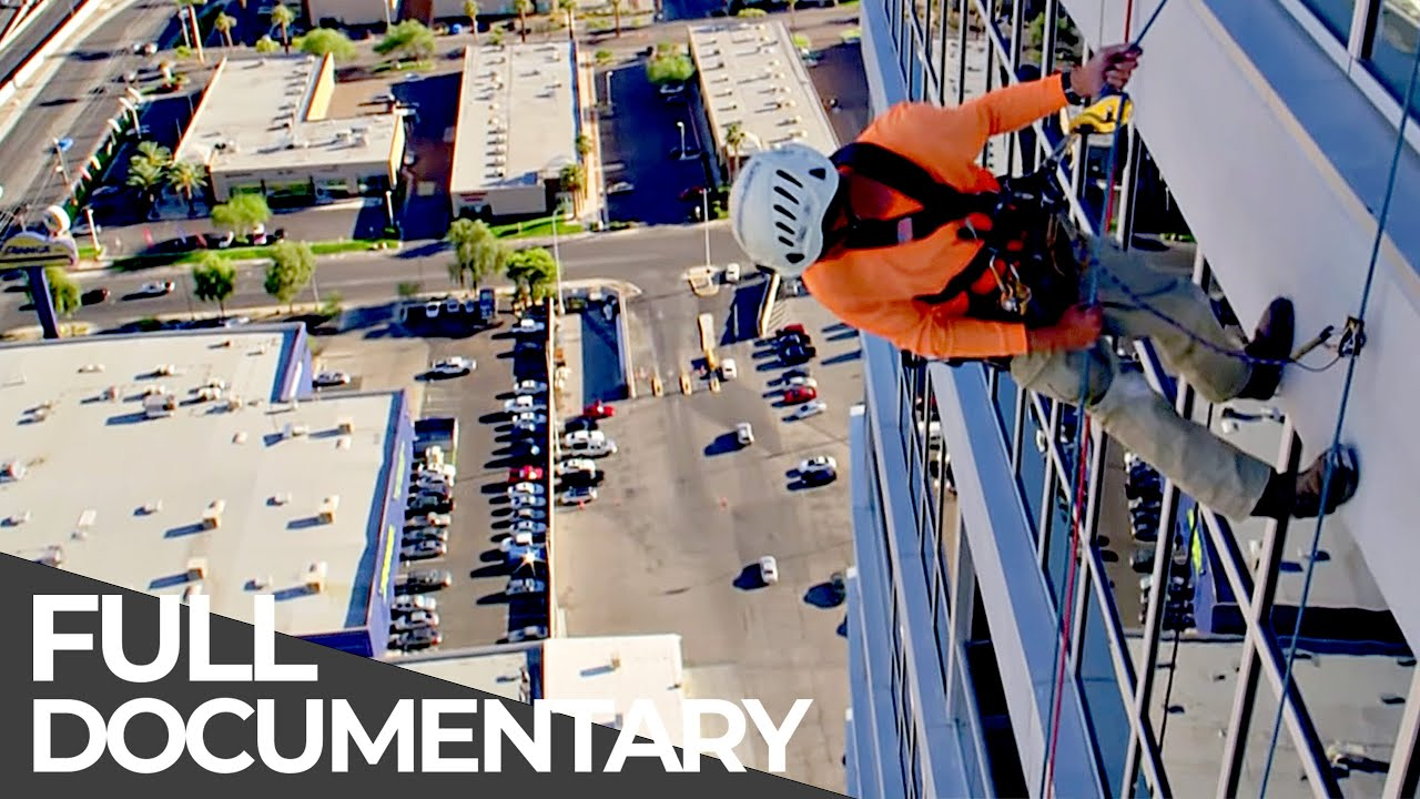 Fearless Workers in Great Height: Replacing an Aviation Light at the Very Top   Free Documentary