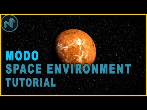 How To Create A Space Environment In Modo - 3D Tutorial