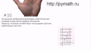 Видео по  А20 ЕГЭ по физике.Поглощение фотона
