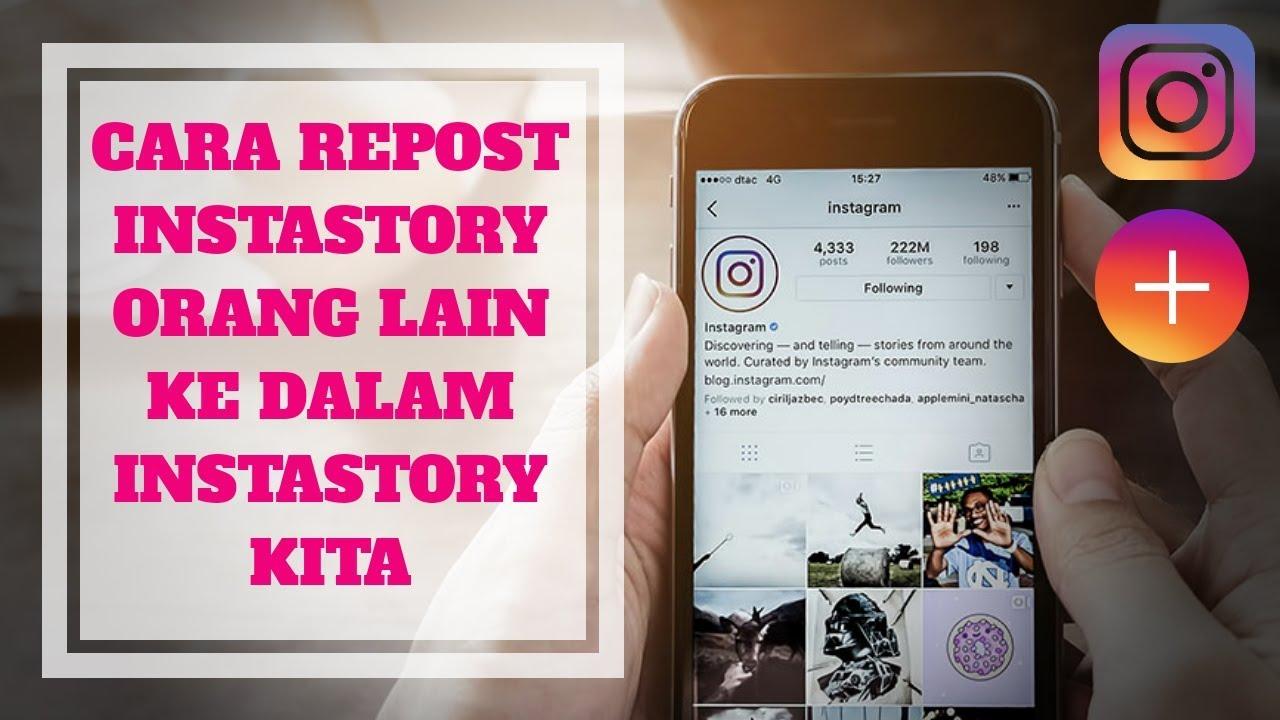 cara repost story di instagram