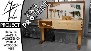 12 Making a small height adjustable workbench. I made a small workbench for my son to play with. But it should also be a real