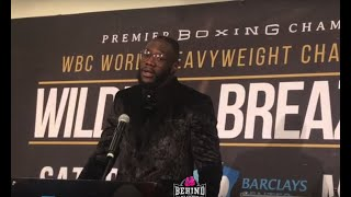 DEONTAY WILDER RAW AND HONEST ABOUT DOMINIC BREAZEALE BEEF | POST FIGHT