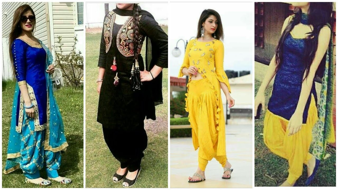 Latest Beautifull Summer Punjabi Patiala Salwar Suit Design Youtube