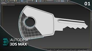 Como modelar chave de cadeado no 3ds Max Parte 01