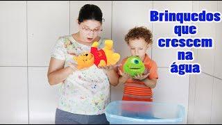 Brinquedos que Crescem na água INCRÍVEL