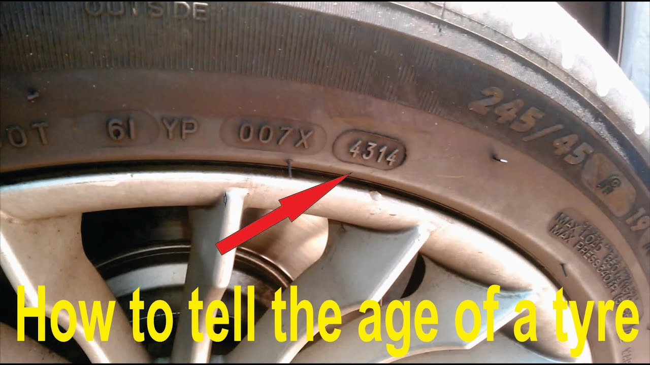 how to tell the age of a car tyre tire youtube. Black Bedroom Furniture Sets. Home Design Ideas