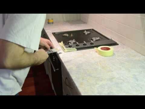 Reparatie van een gat in een bad badkuip repareren schadeherstel funnydog tv - Deco keuken chique platteland ...