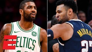 Jamal Murray scores 48 points, Kyrie Irving throws ball into crowd | NBA Highlights