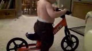 Smallest rider, Strider(tm) running bike