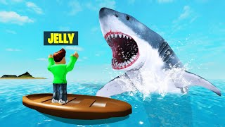 ESCAPE From THE MEGA SHARK Or LOSE! (Roblox Sharkbite)