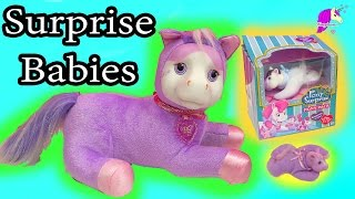 Jazzy Purple Pony Surprise Mom & Baby Plush That Has Mystery Babies