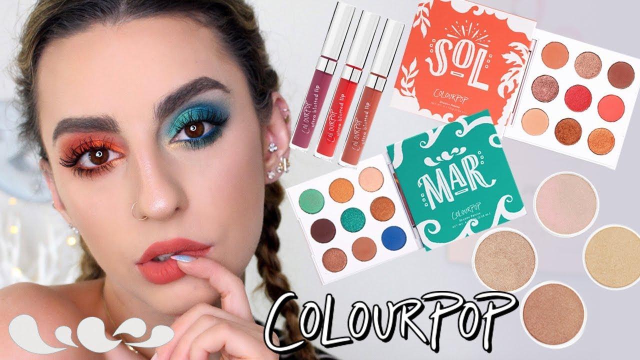 Colourpop Sol & Mar Summer Collection! 2 Eye Looks ...