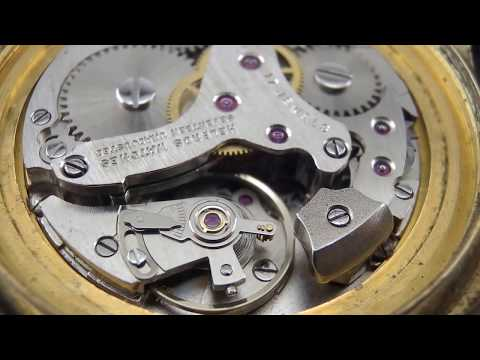 Hb16 Helbros Alarm watch movement cal.1568 by As running.