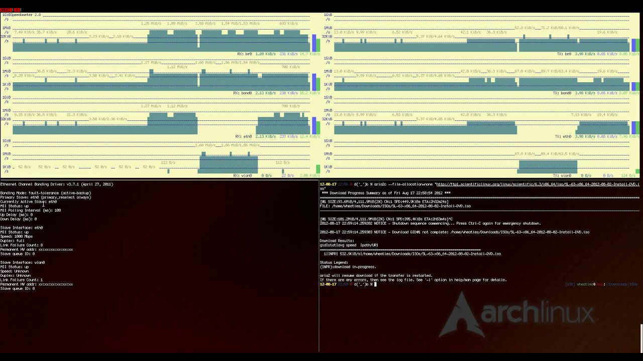Bonding eth0 and wlan0 on Arch Linux (HD) - YouTube