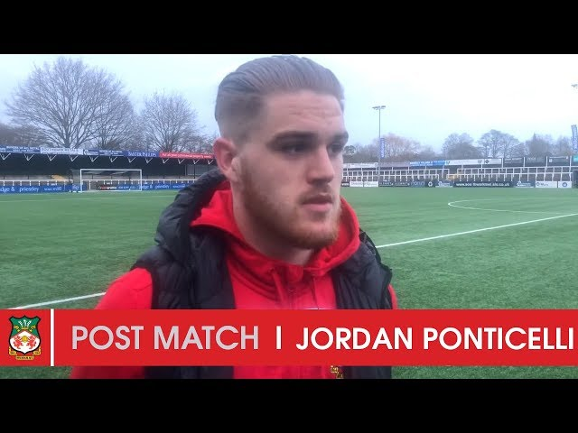 WATCH | Jordan Ponticelli after Bromley