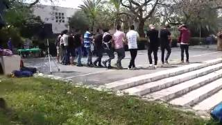 Jews & Arabs dancing the Dabke TOGETHER at Bar Ilan University