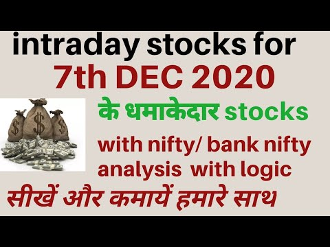 best intraday trading tips for 7 December 2020 | intraday stock for tomorrow | today