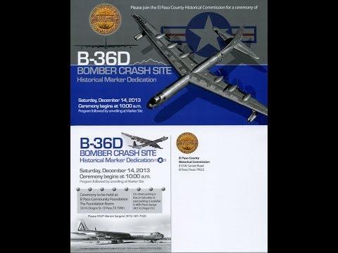 December 14, 2013 TV  webcast of the B36 Crash Site Historic Marker dedication