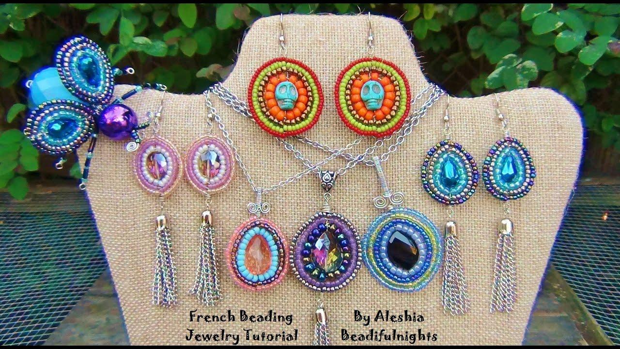 French Knitting Jewellery Tutorials : French beading jewelry tutorial youtube