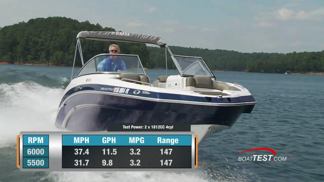 Yamaha 242 Limited Boat 2011 Performance Test By Boattestcom