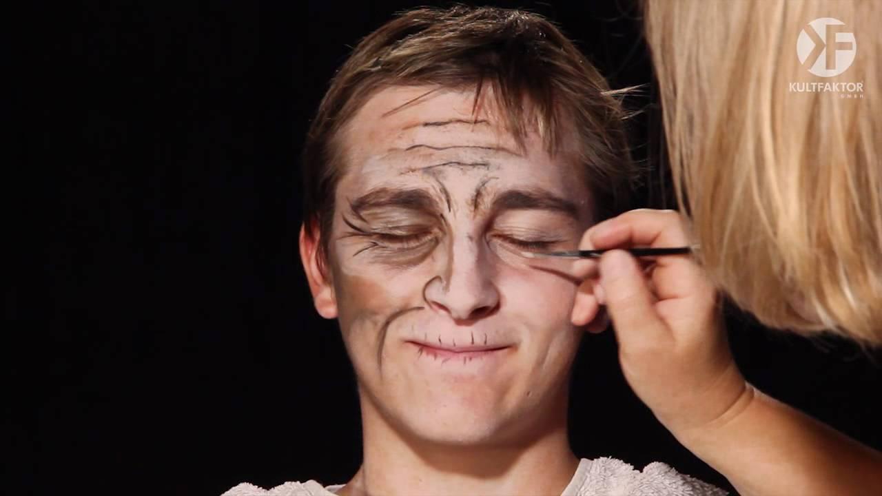 Schminken zu Halloween Alten Mann schminken leicht