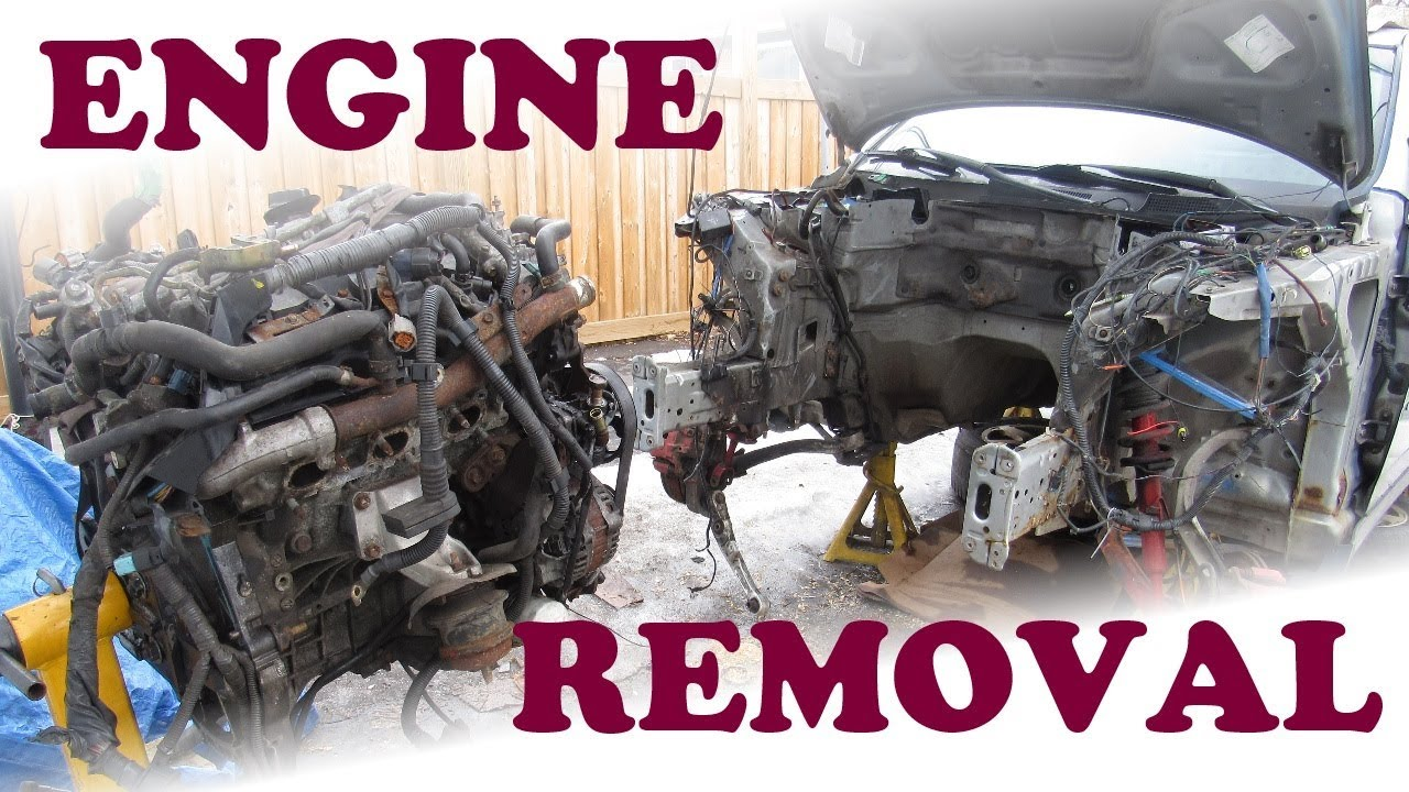 How To Remove A Car Engine Youtube