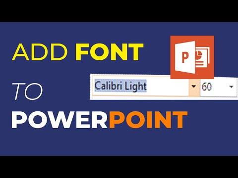 How To Install / Add Fonts In Microsoft PowerPoint - PowerPoint Tips And Tricks