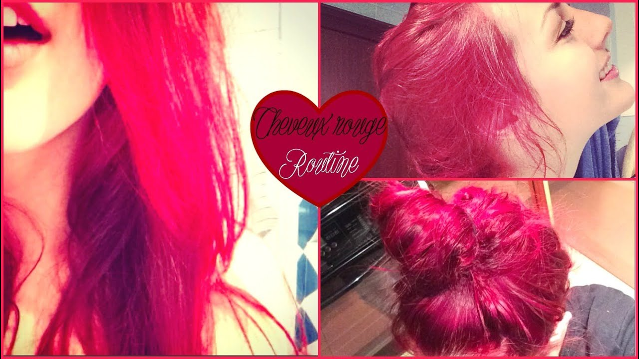 routine cheveux comment avoir les cheveux rouges by indy youtube - Coloration Rouge Framboise