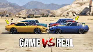 GTA 5 ONLINE - GTA 5 CARS VS REAL LIFE CARS PART #09 (WHICH IS FASTEST?)