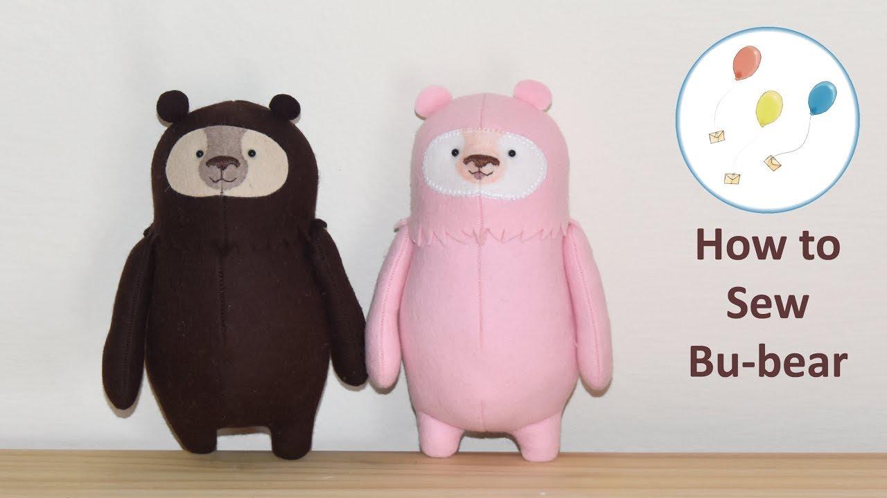 Lets make bu bear cute easy felt teddy bear sewing pattern lets make bu bear cute easy felt teddy bear sewing pattern kawaii plushie jeuxipadfo Choice Image