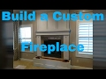 How to build a fireplace mantle. Finish carpentry. DIY