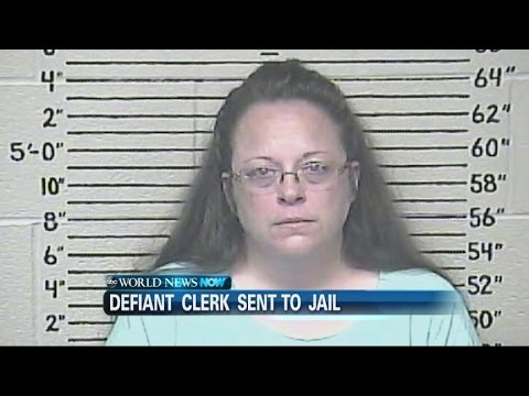 Defiant Kentucky County Clerk Sent to Jail over Gay Marriage Licenses | ABC News