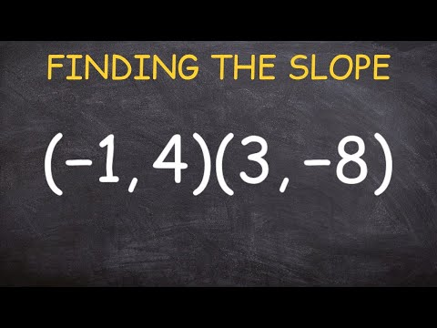 How to find the slope between two points