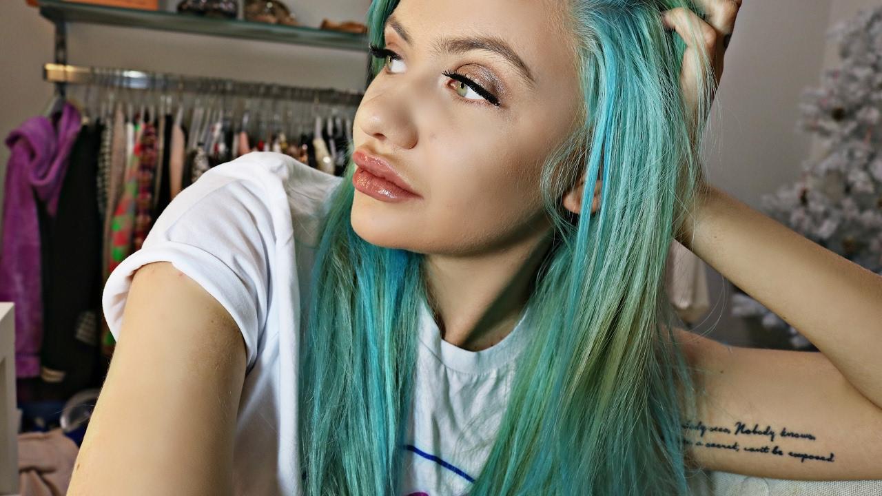 to farvet hår