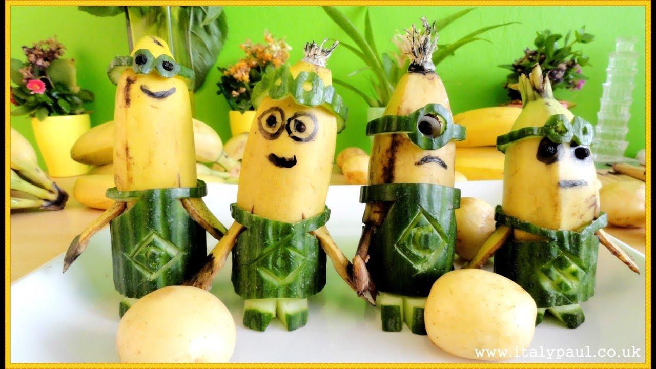 Minions banana funny art of fruit and