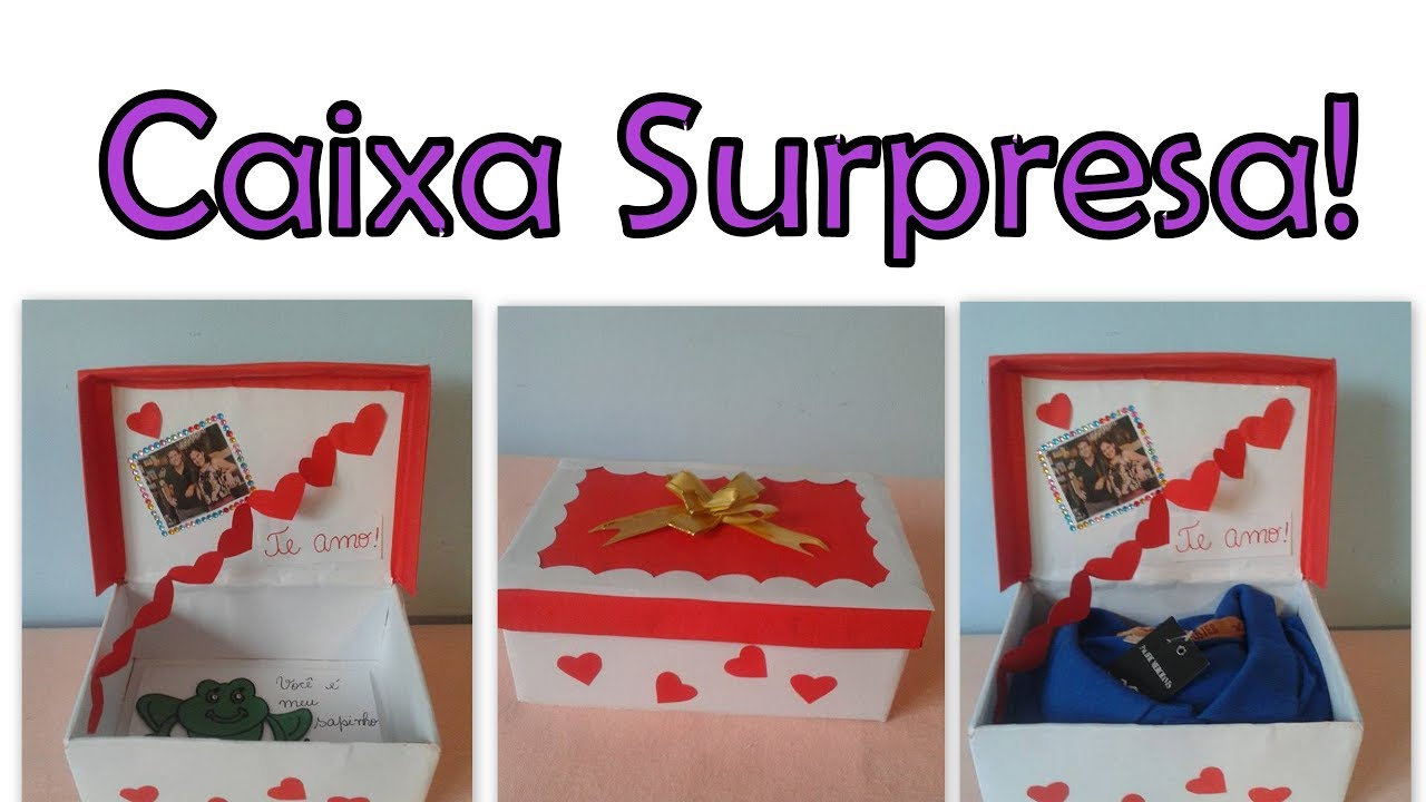 Caixa De Presente Surpresa #Dia Dos Namorados!