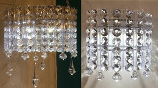 DOLLAR TREE DIY GLAM LIGHTED WALL SCONCE AND CHANDELIER | 2 IN 1 DIY