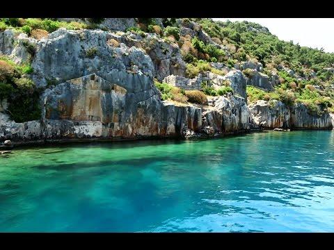 Turkey. Travel to the island Kekova. Ruins of Simena. Part 3