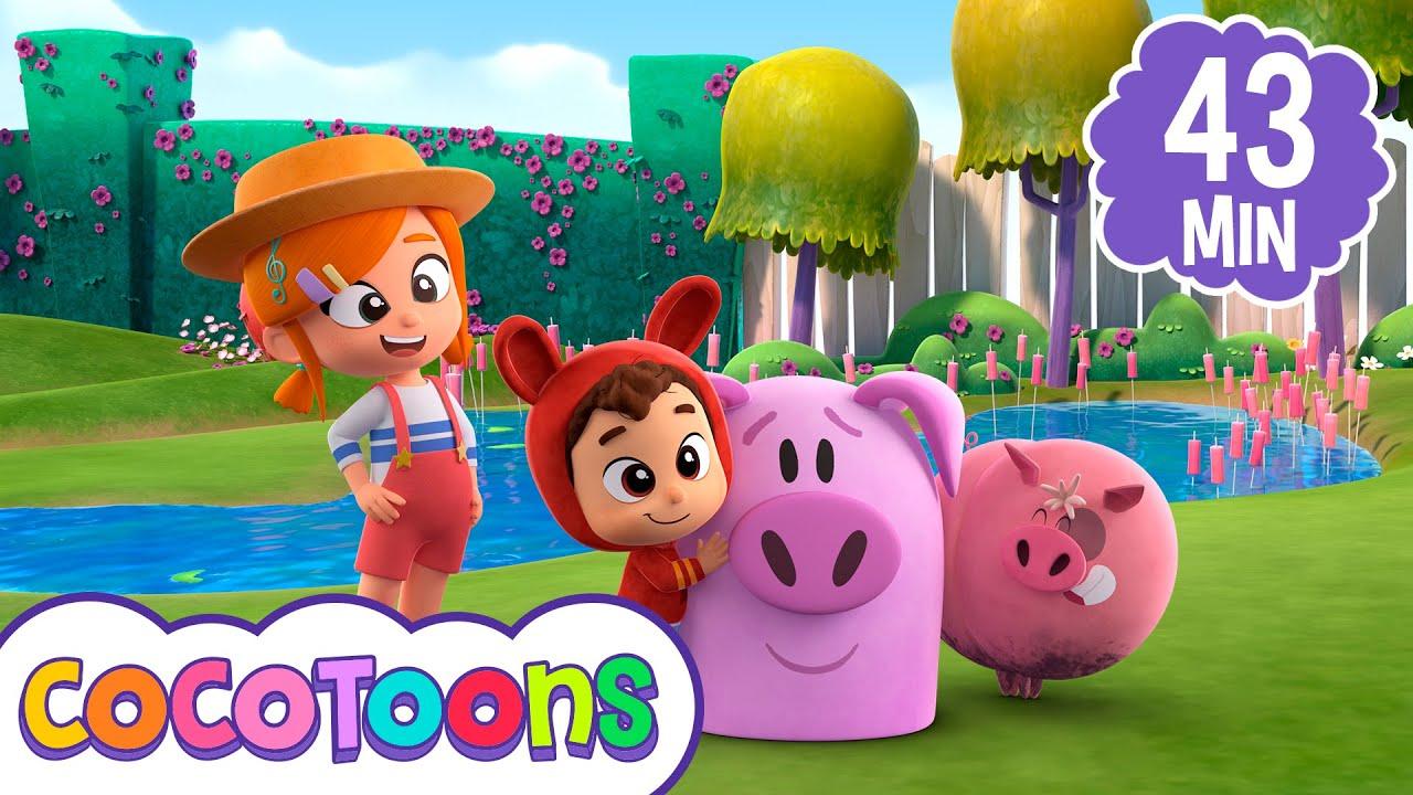 Un pequeño cerdito y más canciones @Lea y Pop - canciones infantiles en español  | Cocotoons