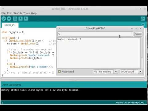 Arduino Serial Input from Serial Monitor Window