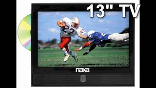 13 Inch Naxa 12 Volt AC/DC 1080i HDTV LCD DVD Combo with ATSC Digital TV Tuner