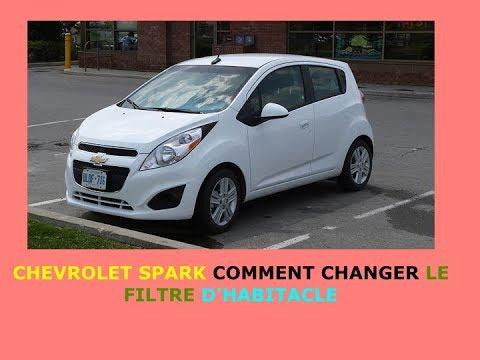 Chevrolet Spark Comment Changer Le Filtre Dhabitacle Youtube