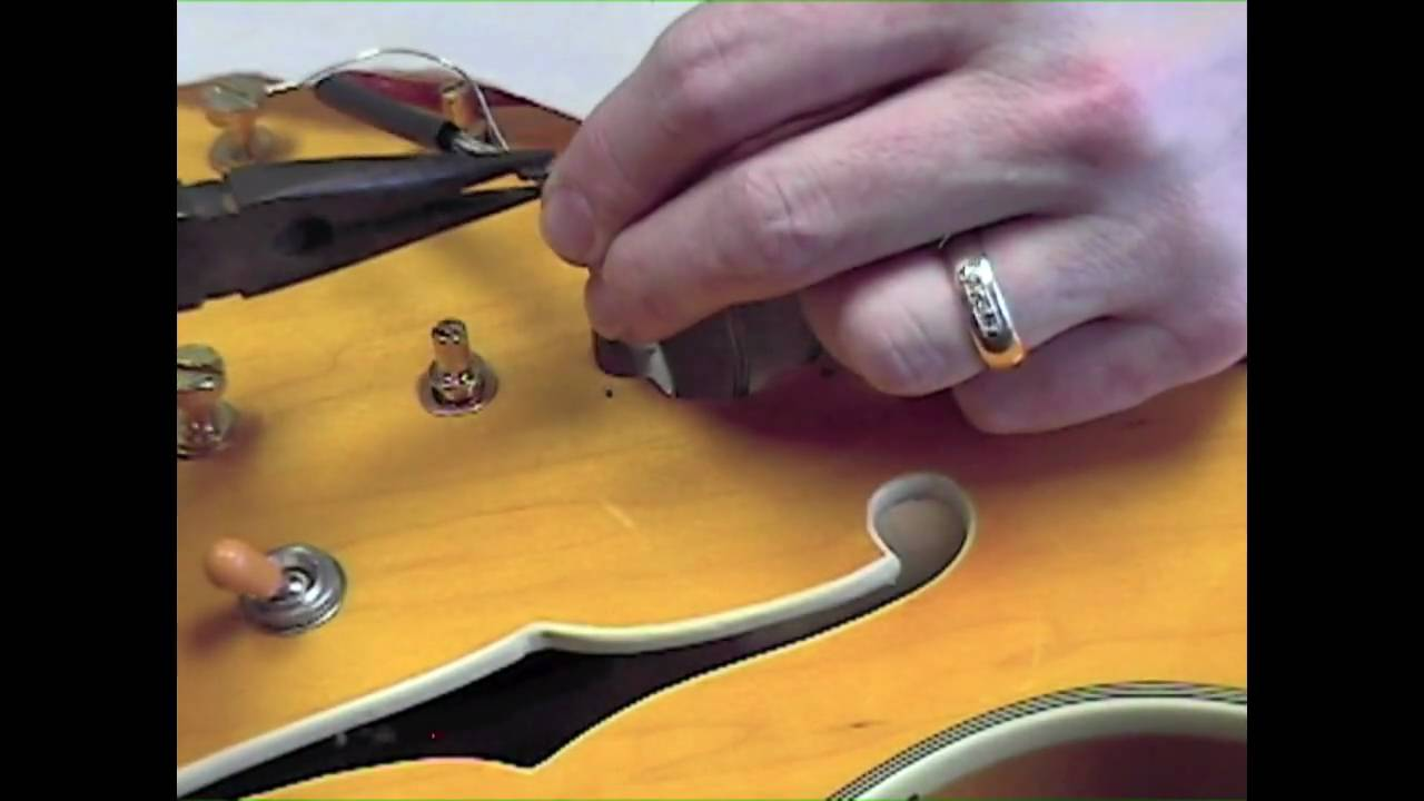 rs guitarworks how to install a 335 kit part 4 [ 1280 x 720 Pixel ]
