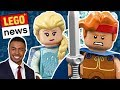 NEW LEGO Disney Minifigures Series 2 2019 Review! LEGO Tower Competition, LEGO Ninjago Fan Series